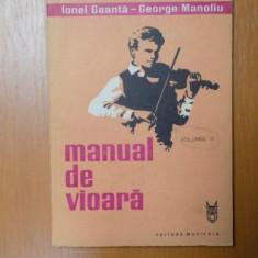 MANUAL DE VIOARA, VOL. III de IONEL GEANTA, GEORGE MANOLIU, Bucuresti 1983 - Muzica Dance