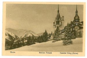 1850 - Prahova, SINAIA, Castelul PELES ( iarna ) - old postcard - unused foto