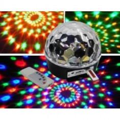 Lumini club - Glob MODEL LASER DISCO LED CLUB PARTY telecomanda stick