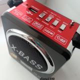 MP3 player Alta - Radio Boxa Portabila MP3 USB si card SD Rosie