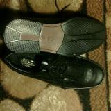 Pantofi piele naturala pentru barbati - Pantofi barbati, Marime: 43, Culoare: Negru