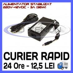 Iluminat decorativ ZDM - SURSA - ALIMENTATOR STABILIZAT 12V - 3A AMPERI - PENTRU BANDA LED RGB 150 SMD