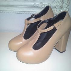 Pantofi cu toc - Pantof dama, Marime: 38, Culoare: Cappuccino, Cappuccino