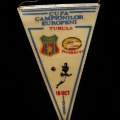 Fanion fotbal - PENTRU UN FAN STEAUA BUCURESTI - FANION - STEAUA BUCURESTI - EINDHOVEN - CUPA CAMPIONILOR EUROPENI - 18 OCTOMBRIE 1989