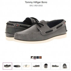 Tommy Hilfiger Bono - pantofi de piele marime 43EU (10US) - Pantofi barbati Tommy Hilfiger, Culoare: Gri, Piele naturala