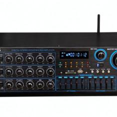 Amplificator audio, peste 200W - STATIE /AMPLIFICATOR PROFESIONAL 250 WATT CU TEHNOLOGIE BLUETOOTH INCLUSA, MIXER, MP3 STICK USB, CARD, RADIO FM, INTRARI MICROFOANE