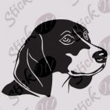 Dog_Tatuaj Perete_Sticker Diverse_DIV-204-Dimensiune: 25 cm. X 18.2 cm. - Orice culoare, Orice dimensiune