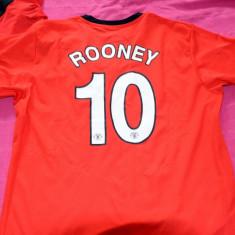 TRICOU MANCHESTER UNITED ROONEY - Tricou echipa fotbal, Marime: M, Culoare: Rosu, De club, Maneca scurta