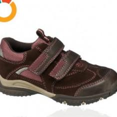 Pantofi copii, Fete - Noi! Pantofi sport piele cu scai, marca Baren Schuhe, fetite mar 27