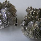 Cercei din argint cu pietre albe (1) - Cercei argint