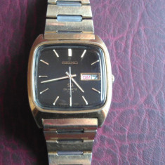 Ceas barbatesc Seiko, Elegant, Quartz, Inox, Electronic, 1970 - 1999 - CEAS - SEIKO 4004 - QUARTZ - BRATARA METAL (NR 5555 )