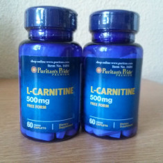 L-carnitina, 500 mg, 60 capsule, forma libera, cel mai bun pret in Romania! - Supliment nutritiv