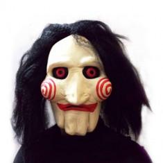 Masca horror Jigsaw Puppet Halloween petrecere tematica costum cosplay +CADOU! - Masca carnaval, Marime: Marime universala, Culoare: Din imagine