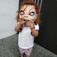 Masca carnaval - Masca horror papusa CHUCKY costum petrecere Halloween craciun Cosplay +CADOU!