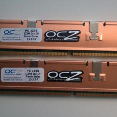 Memorie RAM Alta, DDR, 1 GB, 400 mhz, Dual channel - OCZ Premier SeriesKit DualChannel 2x512mb ddr1 pc3200