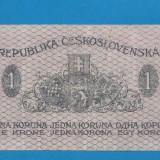 Bancnota Straine - Cehoslovacia 1 krone korona koruna 1919