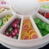 Carusel fimo pentru decoratiuni unghii, nail art, fimo unghii false model cu fructe - Unghii modele
