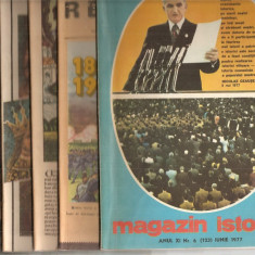 (C5099) MAGAZIN ISTORIC ANULXI, 1977, NR. 1-12, AN COMPLET, 12 NUMERE - Revista culturale