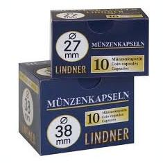 CUTIE CAPSULE pentru monede ( 10 buc ) LINDNER Ǿ 25 mm