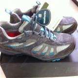 Vand pantofi noi de hiking, dama, Karrimor Tornado, marimea 37, din piele intoarsa, waterproof, respirabili - Incaltaminte outdoor, Semighete, Femei