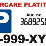 Afis parcare personalizat