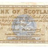 SCOTIA BANK OF SCOTLAND 1 POUND LIRA 1961 F, Europa