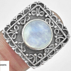 INEL DEOSEBIT CU MOONSTONE(7)-ARGINT 925 - Inel argint