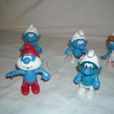 Strumfi, smurfs - 5 figurine mari strumf din plastic - set 14 - Figurina Desene animate