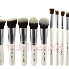 Pensula make-up - Set 10 pensule machiaj profesionale Fraulein38 Germania Kabuki White Waves