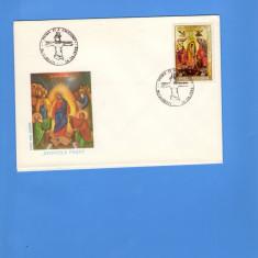 FDC ROMANIA 1992 SFINTELE PASTI, Romania de la 1950, An: 1991