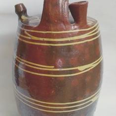 Arta Ceramica - RAR Butoi vechi din lut, facut manual pentru dus apa la camp, din Transilvania