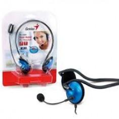 Casti cu microfon Genius HS-300A, Albastre - Casti PC