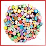 Batoane fimo pt unghii, diverse modele, set de 25 batonase, plus cutter cadou - Unghii modele