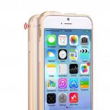Husa BUMPER ALUMINIU premium - HOCO Fedora, iPhone 6, ultra usor, LUX, AURIU