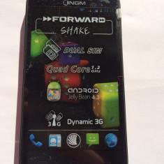 NGM Forward Shake DUAL SIM Quad-Core 1.2Ghz 4GB Liber De Retea NOU Android 4.3 - Telefon mobil Dual SIM, Negru, Neblocat