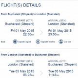 Vand bilet la 67euro Tur-Retur(1mai-5mai), Bucuresti-Londra, Londra-Bucuresti!!! - Bilet avion