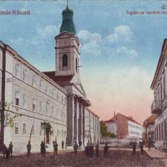 Romania, Szatmar-Nemeti, Satu Mare, carte postala necirculata 1916: Strada, animat - Carte Postala Maramures 1904-1918, Fotografie