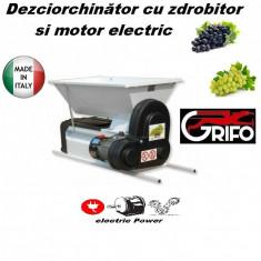 Desciorchinator cu zdrobitor Grifo cu motor DMC cuva vopsea emailata - Presa struguri