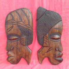 Arta din Africa - Frumos cuplu din lemn de abanos / exotic - Arta Africana !!!