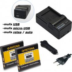 Baterie Aparat foto - A PATONA | Incarcator 4in1+ 2 Acumulatori pt Sony NP-BN1 NPBN1 NP BN1 TX10 TX20