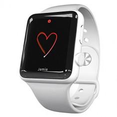 Apple Watch 38mm | Carcasa inox | Curea sport alba - Smartwatch