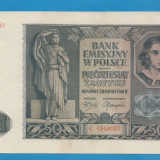 Polonia 50 zloti 1941 XF - bancnota europa