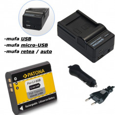 Baterie Aparat foto - PATONA   Incarcator 4in1 USB + Acumulator pt Olympus Li 90B Li90b Tough TG1 TG 1