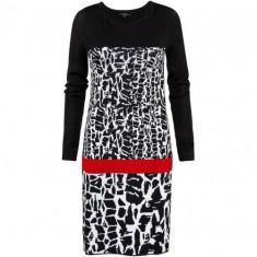 Noua! Rochie de toamna/iarna chic, marca COMMA S.Oliver, femei masura D36 - Rochie tricotate, Culoare: Negru, Marime: S/M, Fara maneca