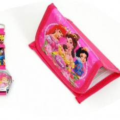 Ceas Copii Disney - Set ceas + portofel PRINTESE DISNEY