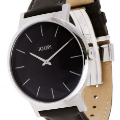 Ceas barbatesc, Elegant, Quartz, Inox, Piele, Rezistent la apa - Ceas JOOP JP100841F01 clasic nou original 100%