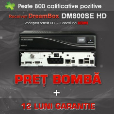 Receiver satelit - Dreambox DM800 SE Sim 2.10 SSL 84D + Optional WIFI si SIM A8P, 12Luni Garantie!