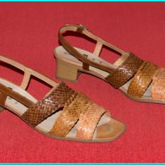 DE FIRMA _ Sandale din piele, aerisite, comode, de calitate, ARA _ femei | nr 40 - Sandale dama Ara, Culoare: Din imagine, Piele naturala