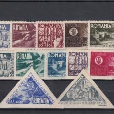 Timbre Romania, An: 1945, Nestampilat - ROMANIA 1945, LP 181, 181a, 182 AGIR, MNH, LOT O RO