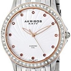 Akribos XXIV Women's AK620SS Lady Diamond | 100% original, import SUA, 10 zile lucratoare af22508 - Ceas dama